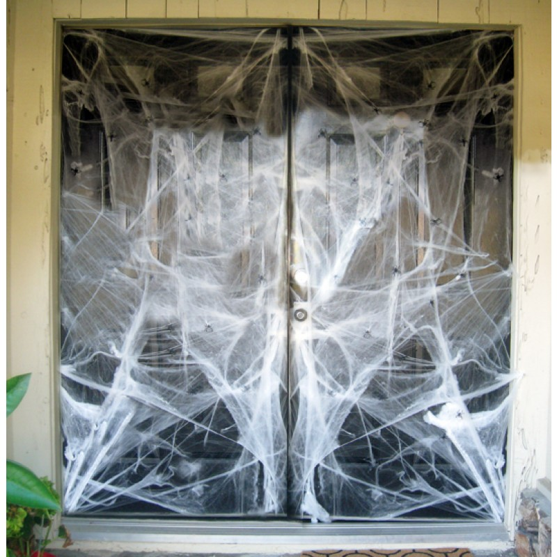 giant spider web halloween decorations halloween. Black Bedroom Furniture Sets. Home Design Ideas