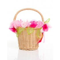 Fairygirls Blossom Basket w/Pink Flowers