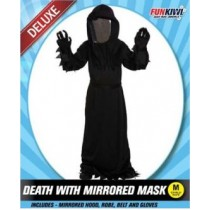 Funkiwi halloween costume- DEATH WITH MIRRORED MASK