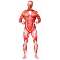 Halloween costume Skinned Human Morphsuit Adult