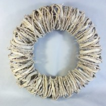 Wicker  Christmas Wreath