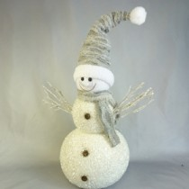 LARGE STANDING SPARKLY SNOWMAN