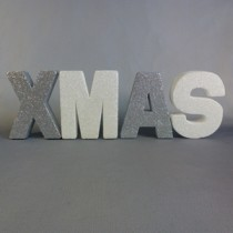 Silver and White XMAS sign