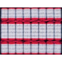 Christmas Crackers Red Musical Notes 8 pce ( NOW IN STOCK FOR  2020)