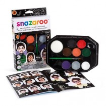 Snazaroo Facepaint Halloween face and body paint kit window box