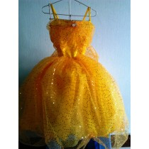 Sparkle Princess Dress in pink, green, orange or yellow